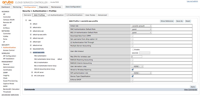 File:9-aruba-controller-aaa-profile png - Social ID Developers